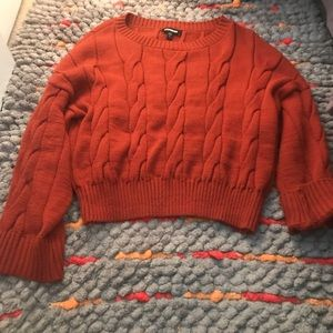 Express oversized sweater cropped